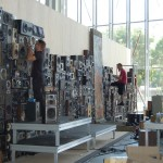 Speakers Wall being built (Angers 2011)