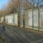 Previewing original Berlin Wall segments, February 2011.