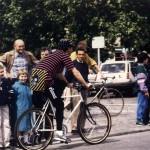 Cyclistes Sonores. 1988 Festival des Arts Electroniques, Rennes, France.
